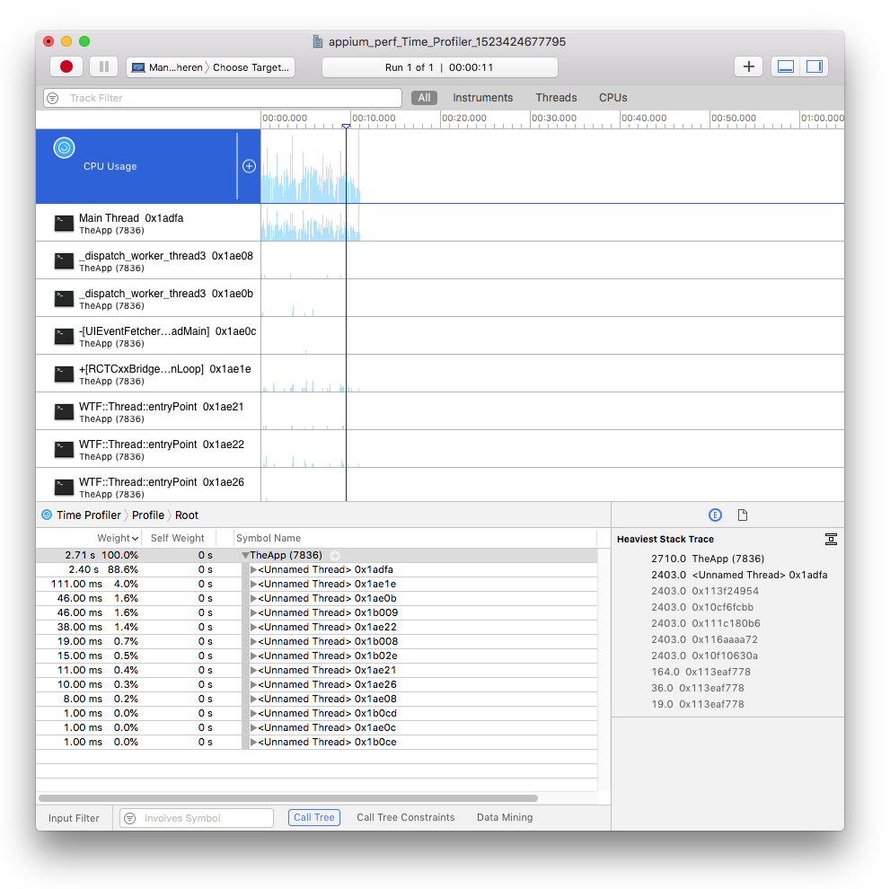 Appium Pro: Capturing Performance Data for Native iOS Apps