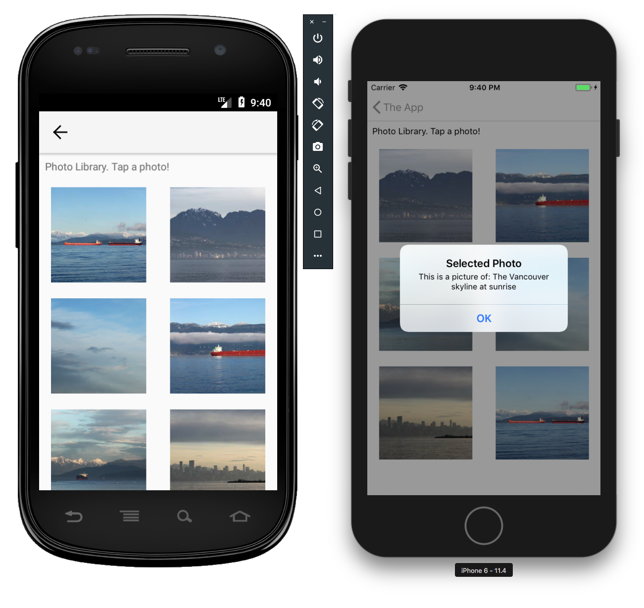 The photo view feature