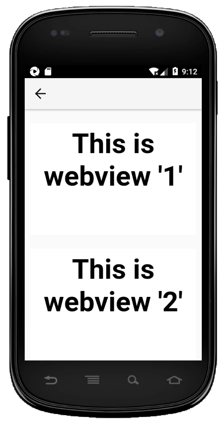 App with two webviews